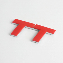 Wholesale 3D Red TT Logo Chrome Badge Emblem Sticker Decal Audi Racing R Cheap badge factory