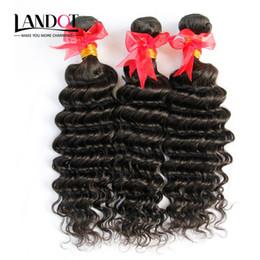 Promotion 24 profonds faisceaux de cheveux bouclés Brazilian Deep Curly Virgin Hair 3Pcs Lot non traitées brésilien Deep Wave Cheveux humains tissés Bundles Naturel Couleur épais Soft Naturel Couleur
