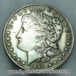 1895-O US Morgan Silver Dollar replica high quality Free shipping 27g 38mm Brass plated with silver