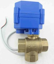 Wholesale DN15 Brass Motorized Automatic Drain way motorized valve electric motorized valve kinds of size