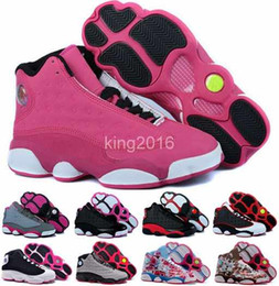 Wholesale 2016 new retro XIII basketball shoes for women high quality womens air dan retros s athletic sport sneakers trainers shoe red flower