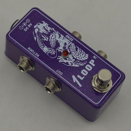 True-Bypass Looper Effect Pedal electric Guitarra Effect Pedal Looper Switch guitar pedal Mini Light Flash purple Loop switches