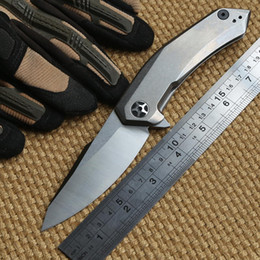 Zero Tolerance ZT 0095 D2 steel blade titanium handle ceramic ball Bearing folding knife camp hunt outdoor survival pocket knives EDC tool