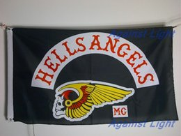 Wholesale Hells Angels Flag x cm Polyester Ontario Outlaw MC Biker Motrocycle Club Banner