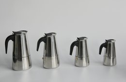 Wholesale High Quality Stainless Steel Moka Espresso Latte Percolator Stove many size available Top Coffee Maker Pot with large stock