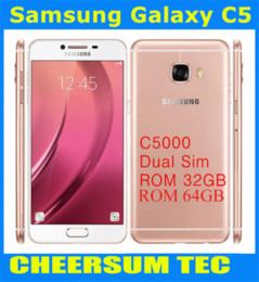 Refurbished Samsung Galaxy C5 C5000 5.2 inch Octa Core 4GB RAM 32GB 64GB ROM 16MP Camera Dual SIM Android 6.0Smart Phone