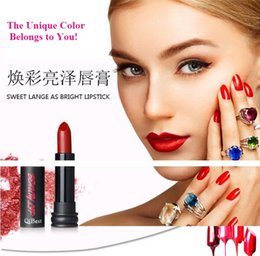Wholesale 2016 HOT sale Qibest color lipstick meets all color requirement you need high end true beauty for you