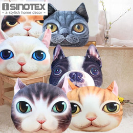 Sieste chat à vendre-Président Cartoon Cover Personnalité Cat Coussin Sofa Taie Creative Handsome Siège mignon Coussin Cat Shape Nap Coussin 1PCS