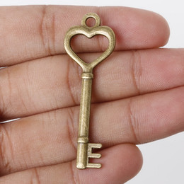 Free shipping Free Shipping 3Pcs 48x16mm Antique Bronze Metal Pendant Key Charms Jewelry Findings Accessories for DIY jewelry making DIY