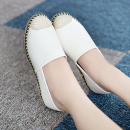 2016 low shoes leisure shoes Asakuchi help round straw shoes fashion ladies shoes white shoes tide