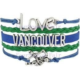 Custom-Infinity Love National Hockey League Vancouver Canucks Ice Hockey Team Fans Bracelet Adjustable Bracelet Bangles-Drop Shipping