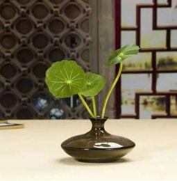 Wholesale Mini Ceramic Vase Mini Desktop Decorative Bottle Chinese Antique Vase Fambe Ceramic Vase Flower Pots for Party Table Decoration