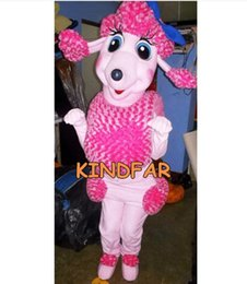 Wholesale-French Poodle Dog Mascot Costume Adult Character Fancy Dress Cartoon Character Outfit Suit Free Ship