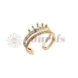 Yoursfs crown studded opening vintage anel CZ Stone rose gold rings for women statement wholesale Free shipping