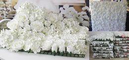 Wholesale EMS cm cm Artificial silk rose flower wall wedding background lawn pillar flower road lead flower