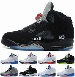 2017 chaussures de sport pas cher 2016 Cheap Retro 5 V OG Black Basketball Shoes métalliques pour les hommes, de haute qualité Oreo Retros 5s Sport Athletics Sport chaussures pour hommes 8-13 budget chaussures de sport pas cher