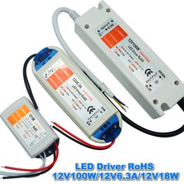 Wholesale 12V A W W W W W V V Lighting Transformers safy Driver for LED strip power supply