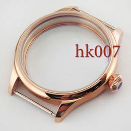 P452 PVD 44mm Rose Gold Sterile Case Fit Eta 6497 6498 Seagull st36 Movement Wristwatch