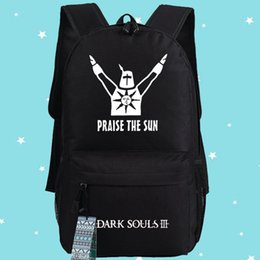 Dark souls backpack Praise the sun school bag Cool daypack High quality schoolbag New game play day pack