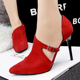 Wholesale Stylish Pumps - women stylish high heels pumps pointed toe shoes simple style heeled ladies heeled shoes