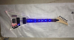 Mini crystal electric guitar Colorful lights Can install LED lights according to the requirements