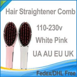 Wholesale Hair Straightener Comb Flat Iron Antomatic LCD Hair Straightener Comb With Spray UA UK EU AU Colors DHL