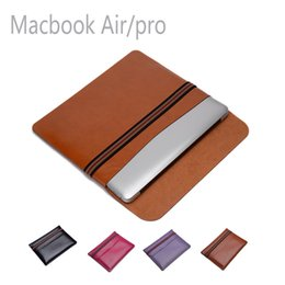 Wholesale High quality soft lining crazy horse Macbook leather pouch bag protector for macbook air inch Pro inch inch