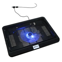 Wholesale KKMOON Silent Thin Computer Cooling Pad Frame USB Cooler Radiator with Blue LED Light for in to in Laptop Notebook C2224