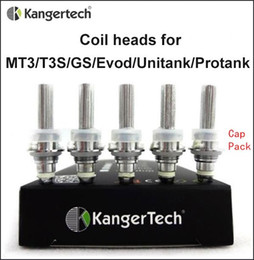 Wholesale Kanger Protank Coils Single Coil fit for eVod MT3 T3S GS H2 unitank Atomizers Replacement Coil unit heads ohm