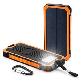 Outdoor Waterproof 12000mah Solar Charger with SOS LED Light Dual USB 2A  1A for Cellphone Pad
