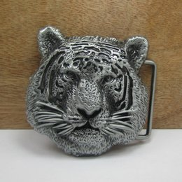 BuckleHome Metal tiger belt buckle western buckle animal belt buckle with pewter plating FP-02780 free shipping