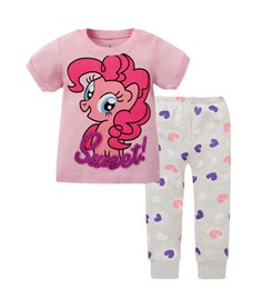 Wholesale 2016 New Style Cartoon Baby Children s Pajamas Set Cotton Soft Kids Summer Pjs Sleepwear Home Wear