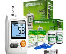 Wholesale Health Care Electronic Digital Handheld GA Glucometer Blood Glucose Meter Monitor Diabetes Test Meter Monitor Kit With FREE test stri