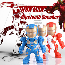 Wholesale C Bluetooth Mini Speaker Iron Man With LED Flash Light Deformed Arm Figure Robot C89 Portable Mini Wireless Subwoofers TF FM USB Card