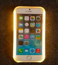 Wholesale iphone s LED light case selfie fill in light illuminated Self Timer exposure cases cover for iphone s plus S SE best quality hot