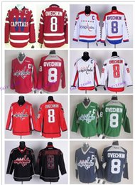 Wholesale Washington Ice Hockey Capitals Jerseys Ovechkin blue red green white black drop shopping freeshipping