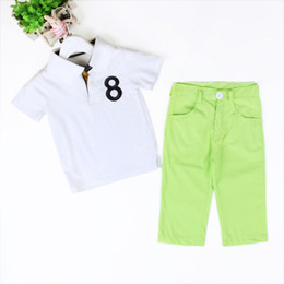 Retail-Kids Clothes Short Sleeve and Pants Boys Set 2016 Children Clothing Casual Style Boys Clothes Lapel Kids Boys Summer Sets
