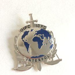 Wholesale Replica police cop metal badge high quality interpol oipc icpc Replica metal badge