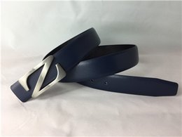 Wholesale The new Z wire clasp advanced drilling stone leather belt contracted and leisure business men belt