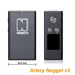 Wholesale Original Artery Vapor Nugget v2 Box Mod kit w TC vape mod internal mah support back light adjustable sub ohm track tank SS316 coil