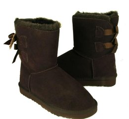 Wholesale new High Quality Christmas Promotion Womens BAILEY BOW Boots NEW Snow Boots for Women Bind bowknot boots pair