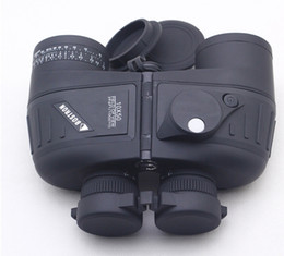 Wholesale-2 COLOR BOSTRON 10X50 Telescope Night Vision Navy Binoculars With RANGEFINDER and Electronic backlit Compass RETICLE illuminant