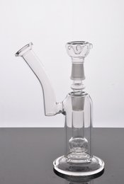 Cheap Wholesale Glass Water Pipes Delicate Bong Vortex Portable Glass Bong Percolator Clear Round Funnel Glass Bowl