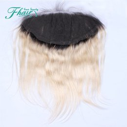 Blonde Ombre Frontal 7A Ear To Ear Lace Frontal Closure Silk Straight Lace Frontals 1B 613 Full Frontal 13x4 Lace Closure