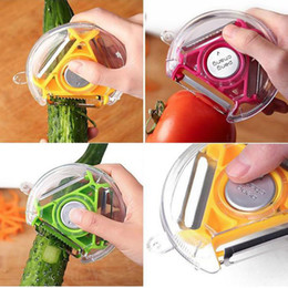 Wholesale 150pcs In Rotary Tomato Serrated Peeler Fruit Vegetable Grater Carrot Julienne Slicer Potato French Cutter With Steel Remove Eye ZA0362