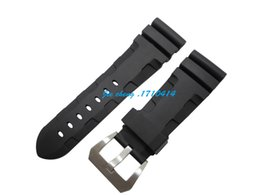 Regarder bracelet en caoutchouc noir à vendre-26mm (boucle 22mm) MAN NOUVEAU Bracelet en caoutchouc silicone en plongée noire de qualité supérieure BANDS Bracelet pour montre Panerai