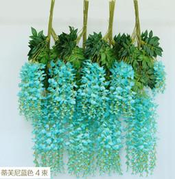 Silk Wisteria Flower Rattans 72pcs Artificial Wisteria Flower Silk Bean Vine Flowers for Wedding Home Party Floral Decorations