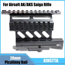 Wholesale KINSTTA Quick Release Side Laser Scope Sight Mount W Dual Picatinny Rail For Airsoft AK AKS Saiga Rifle