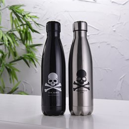 Wholesale Cheapest New ml Skull S well Bottle Stainless Steel Vacuum Flask Skull Cup Swell Sports Mug