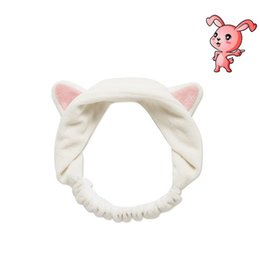 cheveux amicaux Promotion 200pcs Shape Rabbit Ear visage Make Up Spa maquillage'S Wash Hair Band femmes Bands cheveux Bandeau Femmes Cheveux Bain Douche Cheveux Turban ZA0624